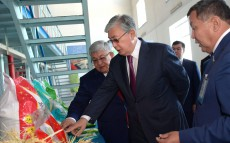 The President of Kazakhstan gets acquainted with Jan Arai agro-industrial complex