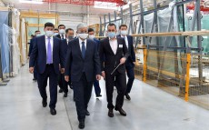 "The Head of State visits ""KSM Technovid LLP"" enterprise, a plant of energy-efficient architectural facades"